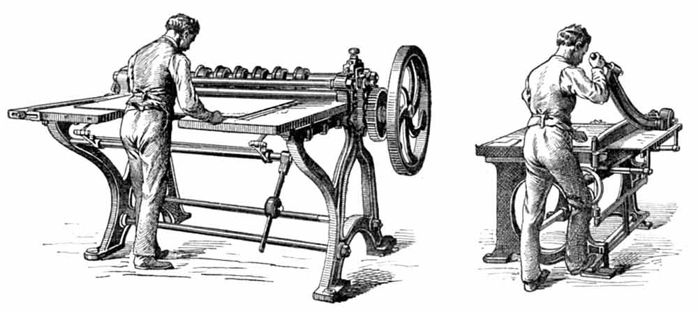 historical binding equipment - cutting machines
