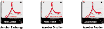 Adobe Acrobat Distiller, Exchange & Reader