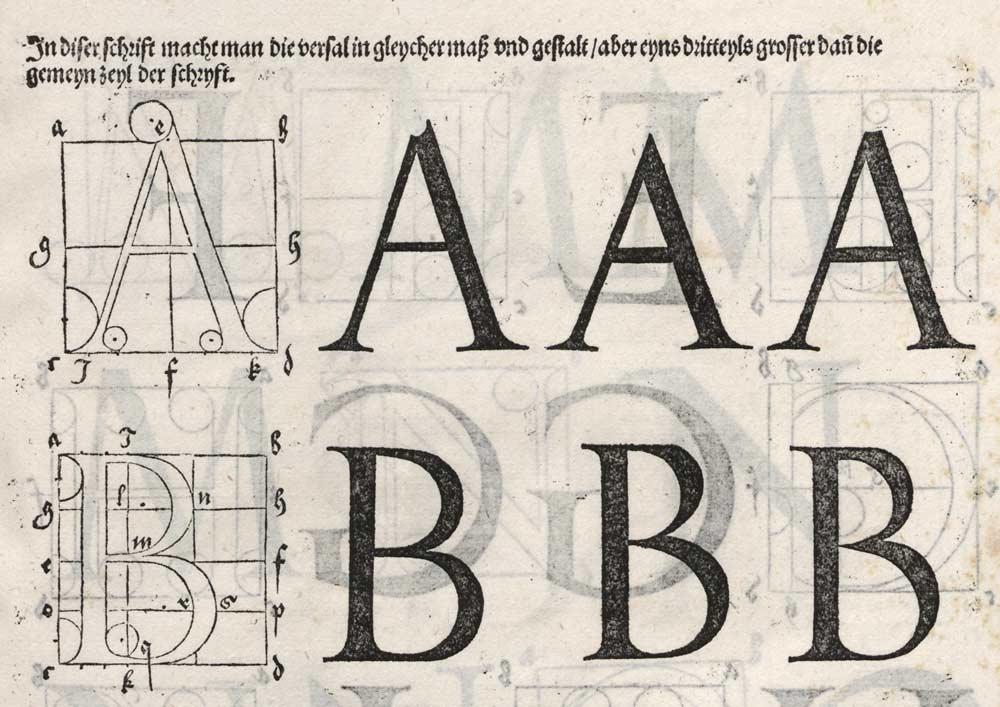 Albrecht Dürer engraving of characters