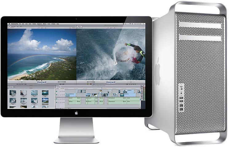 Mac Pro with screen