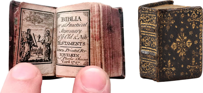 tiny Biblia bible