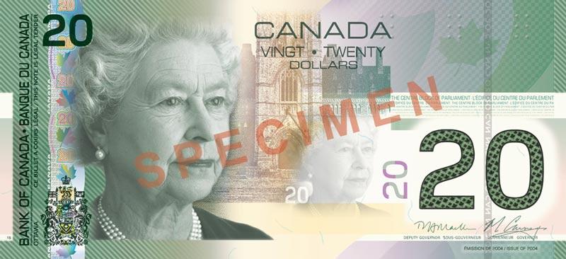 Canada 20 dollar bill