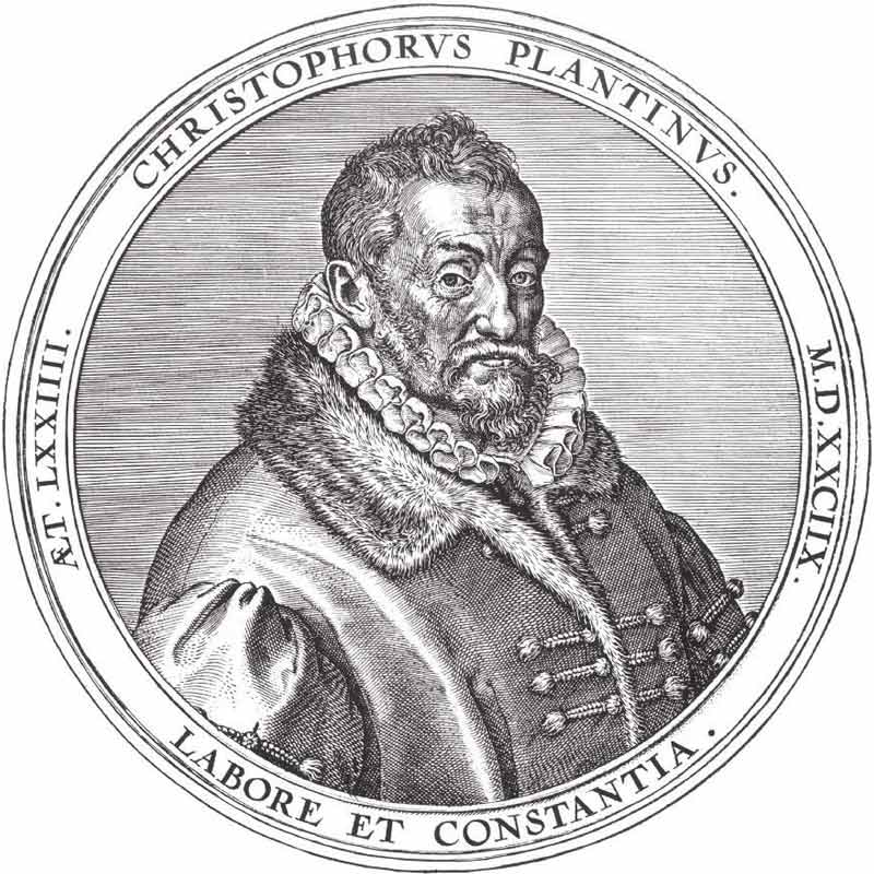 Christophe Plantin - famous printer from Antwerp