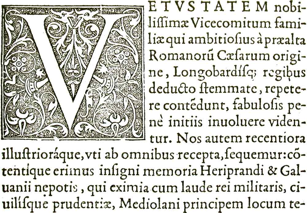 Example of typeface of Claude Garamond