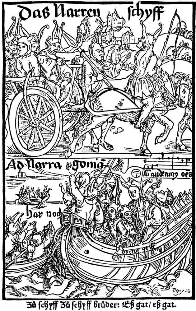 Dürer woodcut from Das Narrenschiff