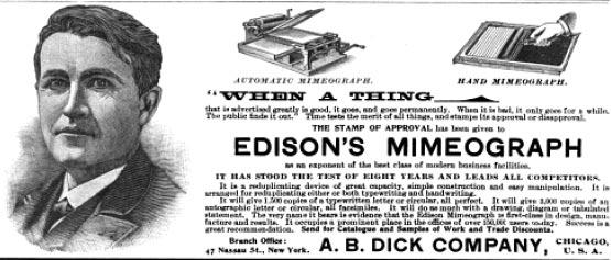 Edison Mimeograph