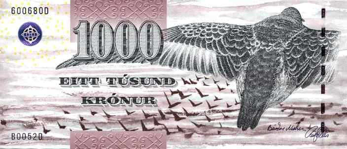 Faeroe 1000 kronor banknote