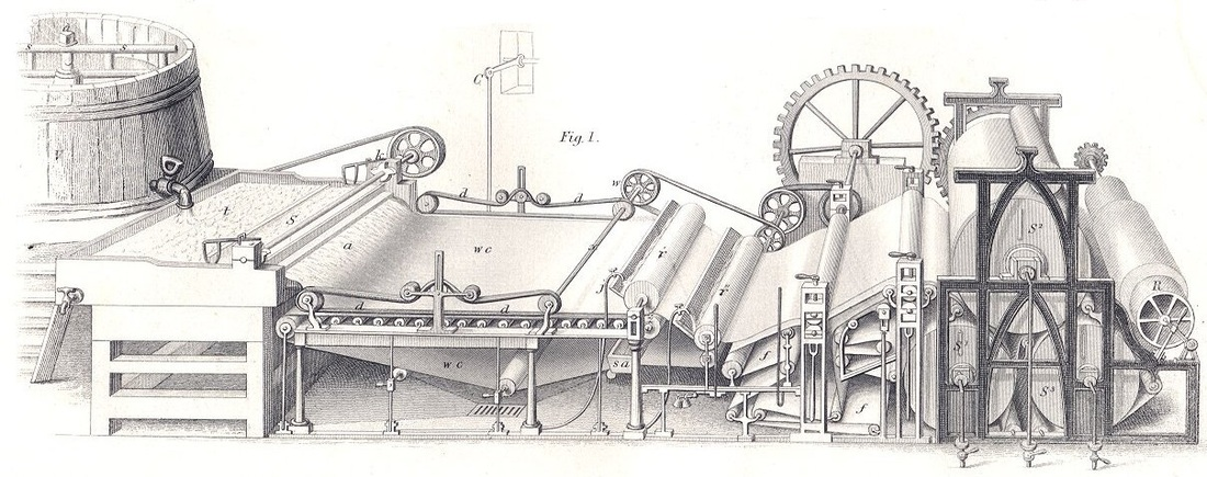Fourdrinier machine