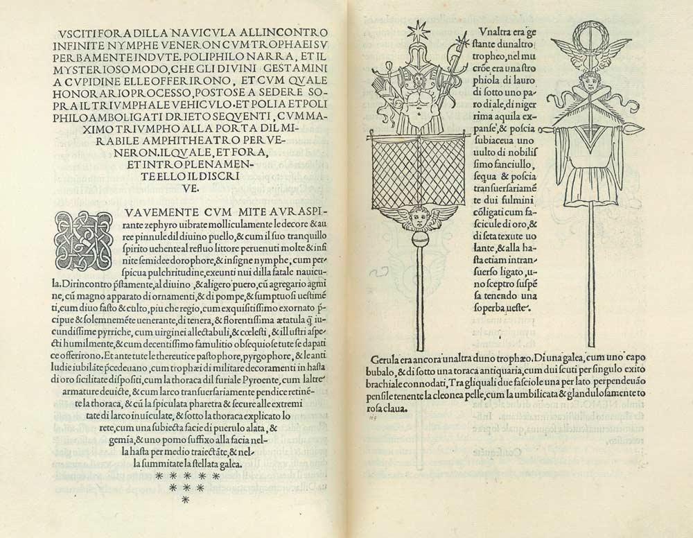 Hypnerotomachia Poliphili - trophy Roman arms