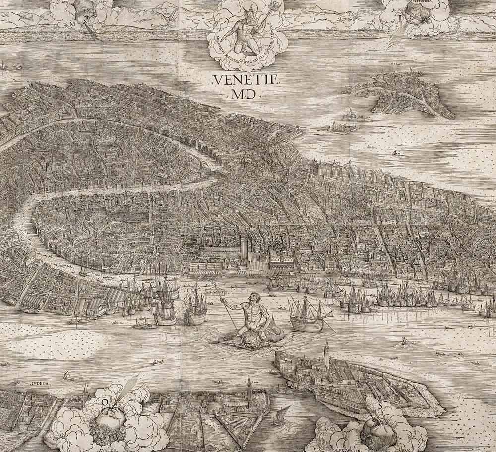 Jacopo de' Barbari - woodcut map of Venice