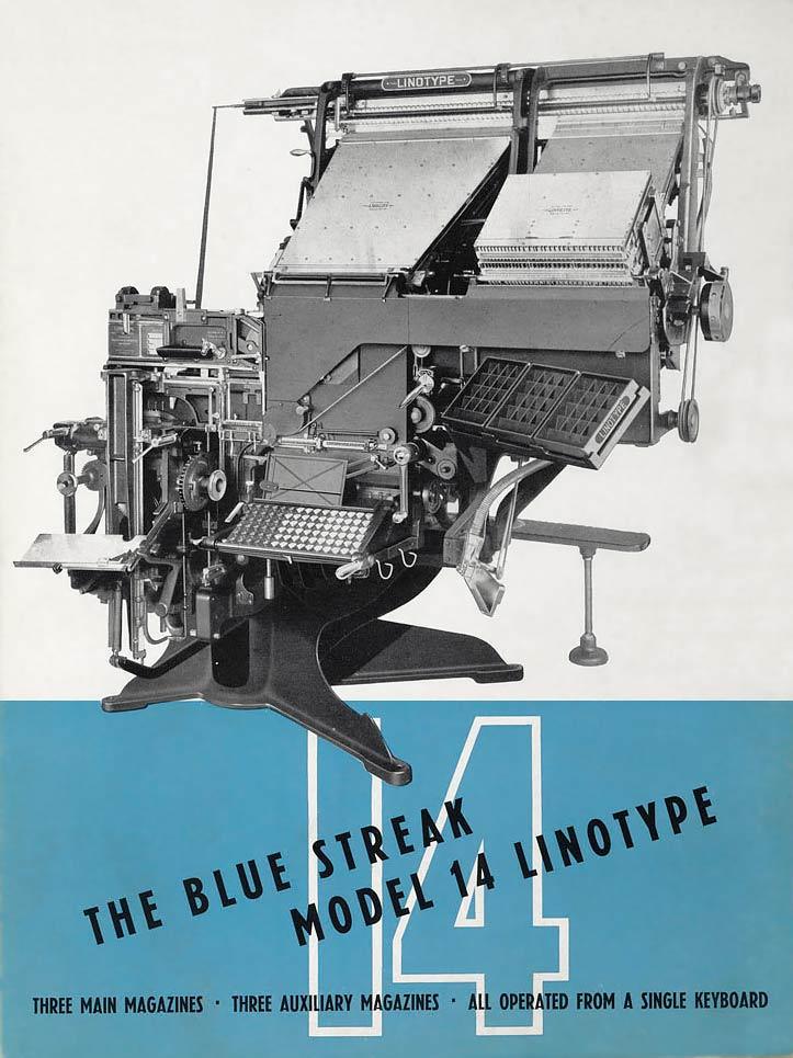 Linotype model 14 typesetter