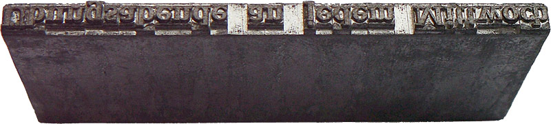 slug of type from a Linotype