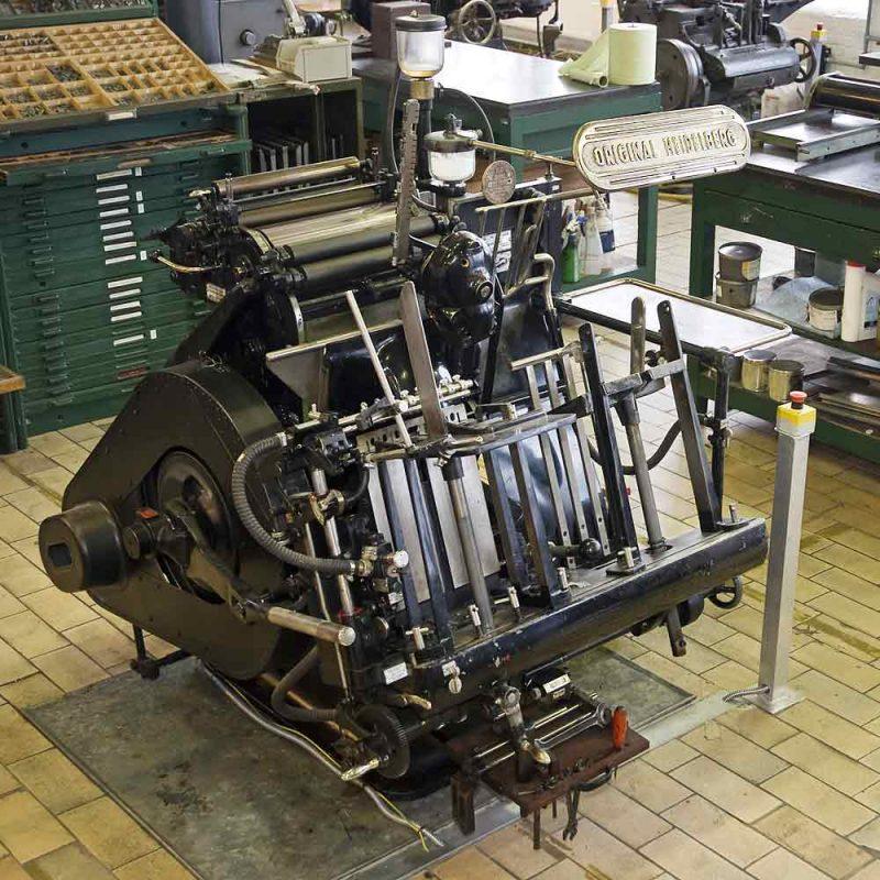 Heidelberg Windmill printing press