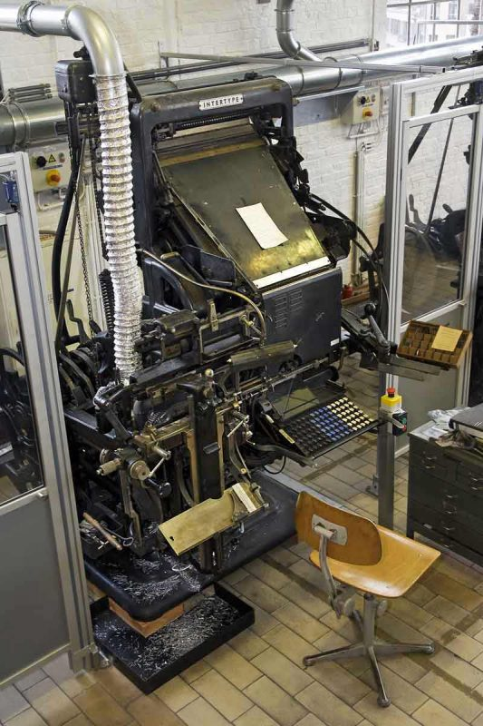 An Intertype type casting machine for newspapers, from around 1965
