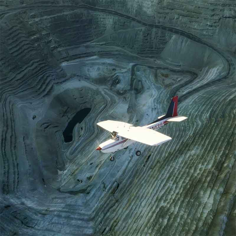 open pit mines in Microsoft Flight Simulator 2020