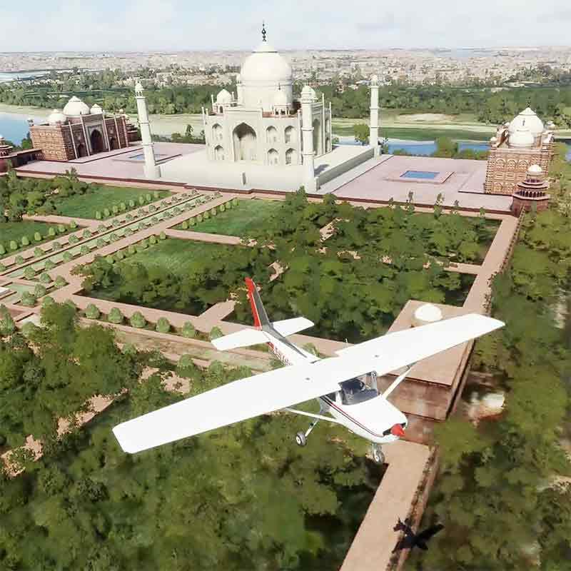 Flight over the Taj Mahal with MSFS 2020