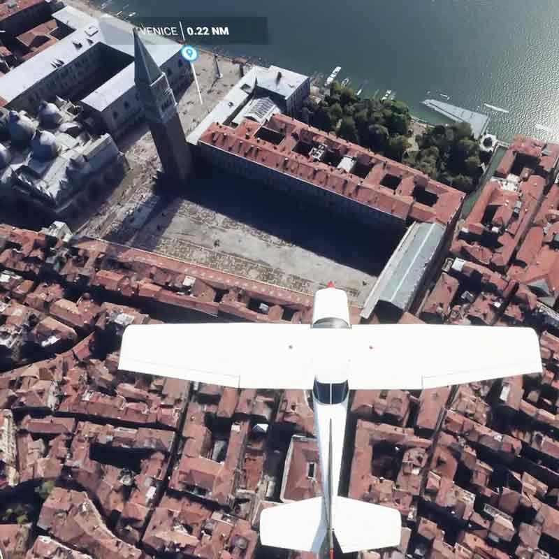 Virtual visit to Venice in Microsoft Flight Simulator 2020