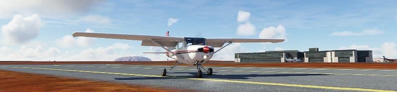 Ayers rock in Microsoft Flight Simulator 2020
