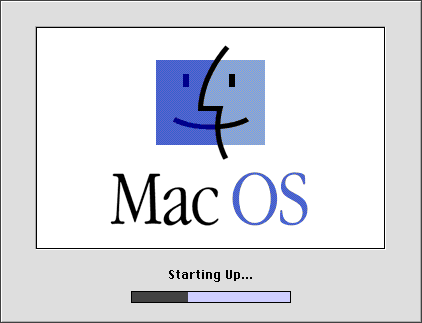 MacOS startup screen