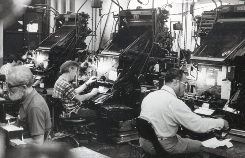 NY Times Linotype operators