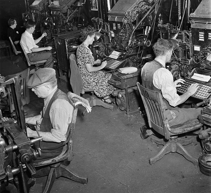 New York Times - Linotype typesetting