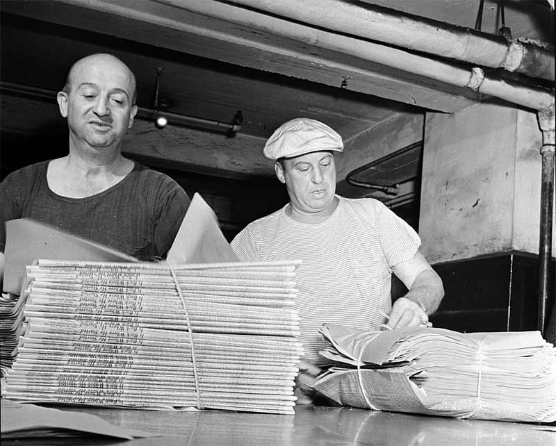 New York Times - 1942 mailroom