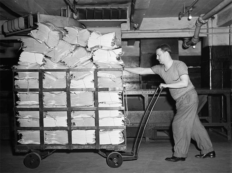 New York Times - mailroom to truck
