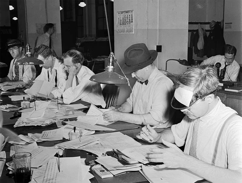 New York Times - 1942 newsroom