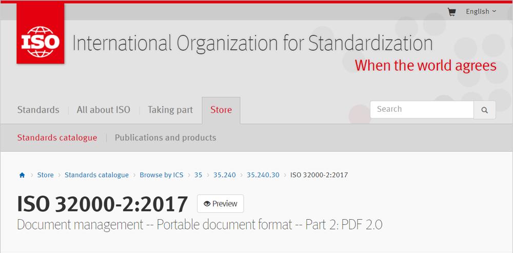 PDF 2.0 - ISO standard