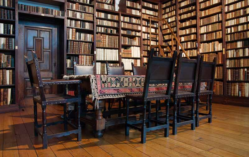 The big library of the Platin-Moretus museum
