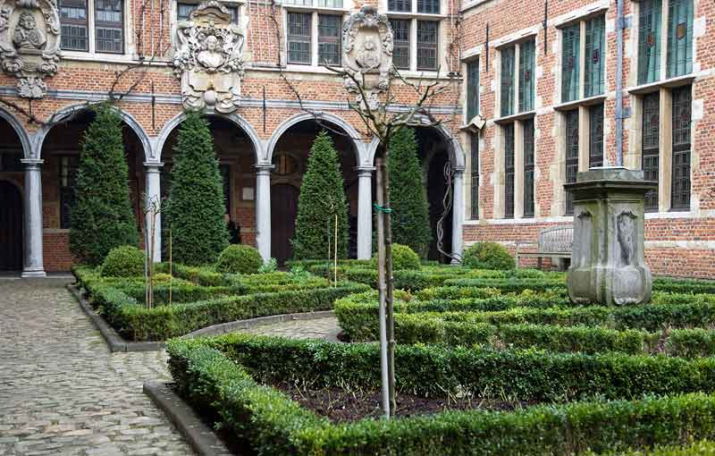 Courtyard of the Plantin-Moretus museum