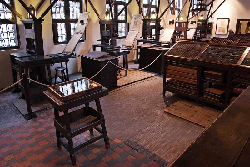 Press room of the Plantin-Moretus museum