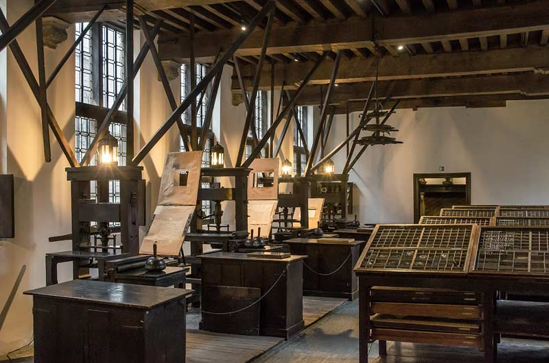Press room at Plantin-Moretus