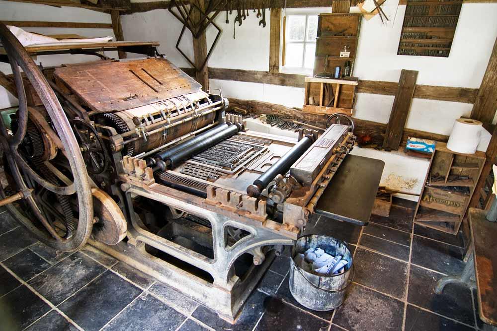 the printing press in the imprimerie