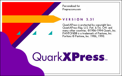 QuarkXpress 3.3 DTP software