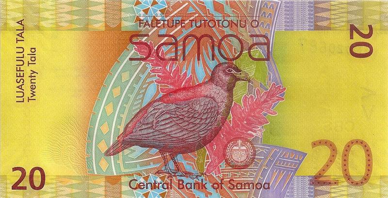 Samoa 20 Tala banknote of the year