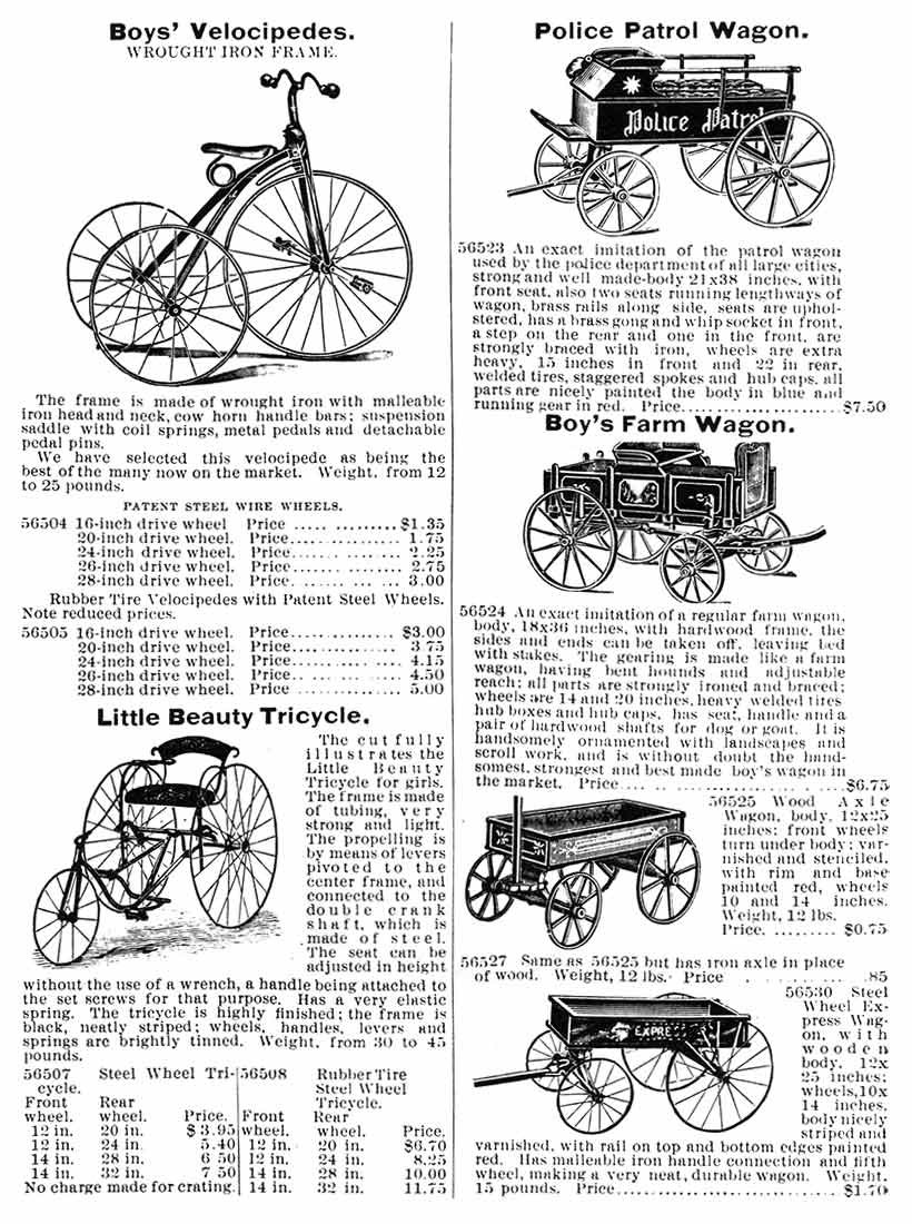 Sears catalog - 1895 bicycles