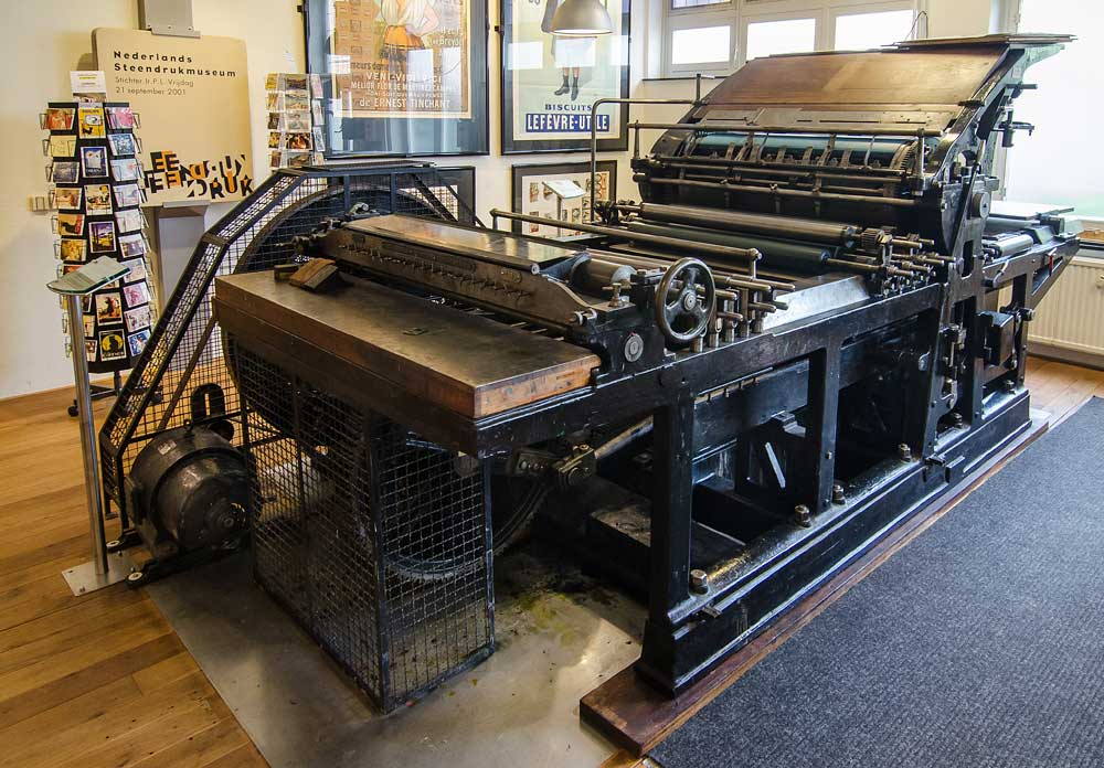 Komet lithographic printing press