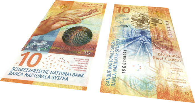 Switzerland 10 Franc banknote