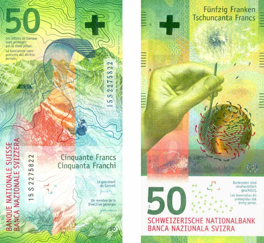 Switzerland banknote 50 Francs