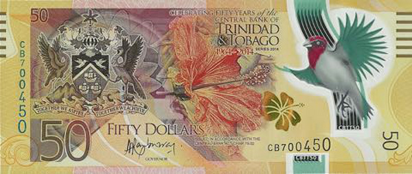 Trinidad and Tobago polymer banknote