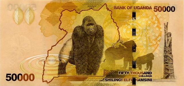 Uganda 50000 shillings banknote