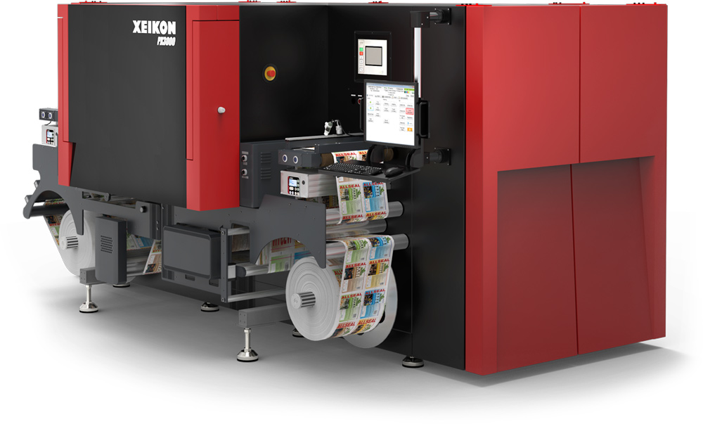 Xeikon PX3000 - inkjet label printing press
