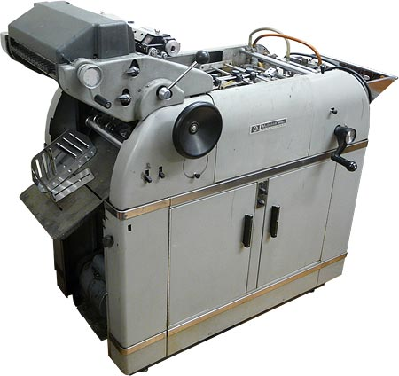 The Multi 1250 offset printing press from the mid '50s