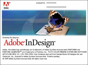 Splash screen of InDesign 1.0