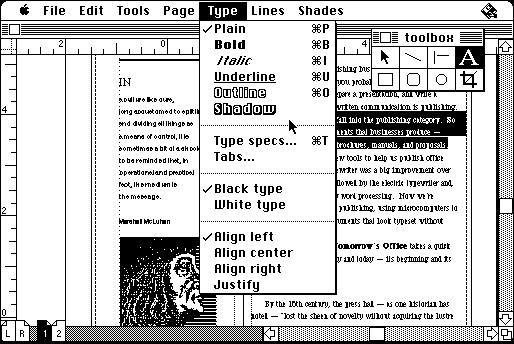 Aldus PageMaker 1.0