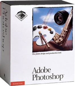 Photoshop 1.0 packaging from 1990