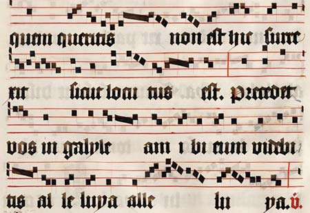 Musical notation from the Middle Ages