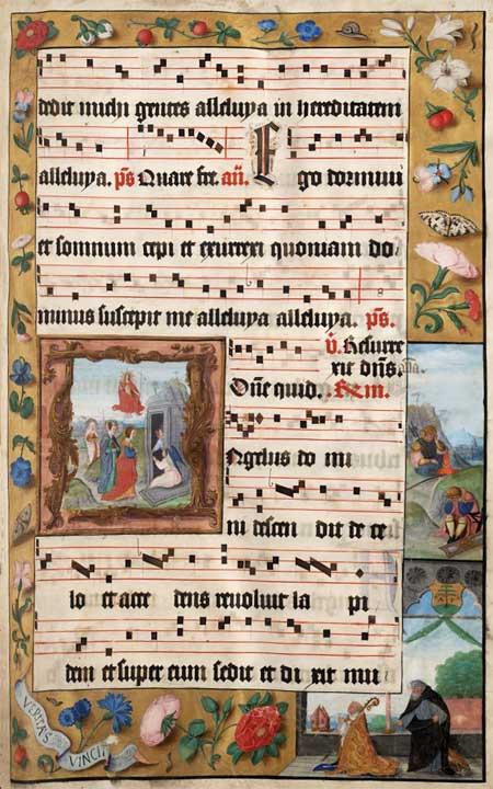 Richly illustrated Gregorian choir music