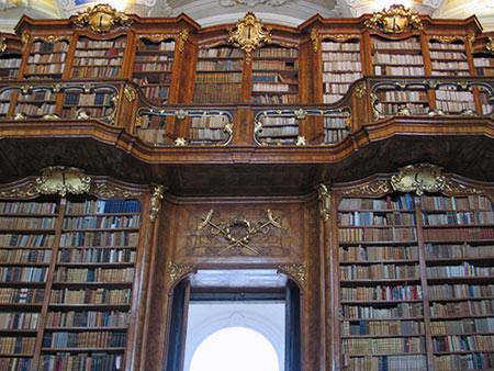 Photograph of the Sankt Florian library